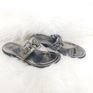 Marc Fisher | Silver Tone Thong Sandal Hardware 6